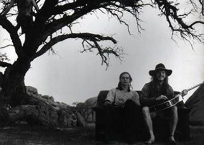 Jamming in the desert - Dieter and Al at Spitzkoppe
