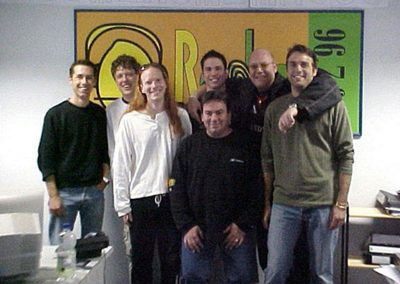 The band and the Radiowave crew